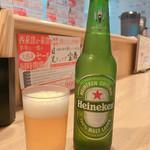 ぎょうざ宝舞 - ハイネケンビール 480円