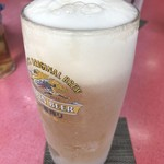 中華料理 萬福 - キンキン生ビール。