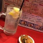東京MEAT酒場 - レモンサワー&お通し