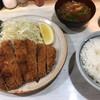 とんかつ 山道 - 料理写真:ロースかつ定食(1100円)