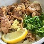 太郎うどん - 限定の肉ぶっかけ