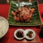 110218037 - 茄子ぶた味噌炒め定食 880円(税抜)