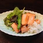 旬菜 ととや - 明太ソーセージ炒め650円