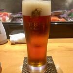 110227203 - 「琥珀ヱビス 生ビール」@600