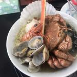 えんまん亭 - 海鮮ラーメン真上から