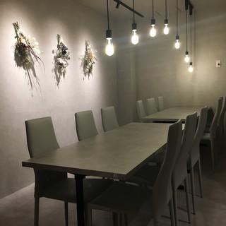 個室の落ち着いた空間で食事をお楽しみ下さい