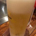 広島風お好み焼 伊豆川 - 生ビール中