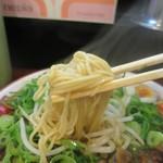 らーめん2国 - 牛すじらーめん、こちらはレギュラー麺(細麺)