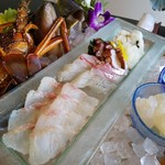 民宿 千年松 - 地魚刺し盛り
