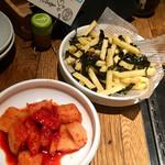 熟成焼肉 肉源 - カクテキ & 韓国海苔塩ポテト