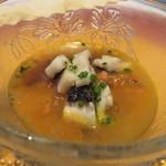 クリマ ディ トスカーナ - 冷製スープ 佐島産真蛸 長崎産アナゴ トスカーナ風ズッパ