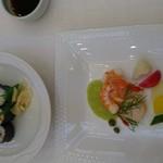 アップルパレス青森 - お料理 最初の二皿のみ     f(^^;