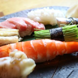 舎利にも酢ときび糖にこだわり極めた寿司をご堪能ください。