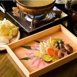 【宴会】金目鯛のしゃぶしゃぶを堪能できる贅沢コース5500円