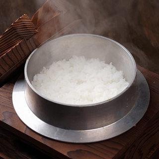 マイスター厳選のお米を使用して、ひと釜ずつ炊く銀しゃり
