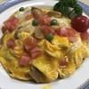グリル富久屋 - 料理写真:富久屋ライス チキンライスにオープンオムレツ トマトはフレッシュ