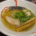燵家製麺 - しおらーめん 750円・味玉 100円
