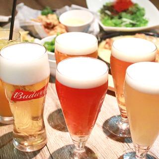 ≪高コスパ◎≫生ビール含む飲み放題付コースは4,300円~!