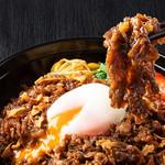 焼肉チャンピオン - 牛焼肉丼(温玉付き)