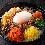 焼肉チャンピオン - 焼肉ビビンバ丼(温玉付き)