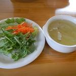 トランブルー  - ランチのサラダ、スープ