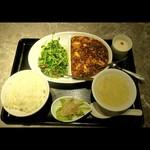 Fukumanen - 〔2019年6月19日撮影〕二種味わい中華セットの全景