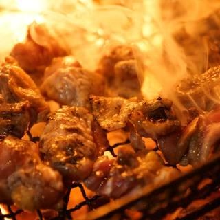 鶏っく自慢の炭火焼き!美味しさの秘密