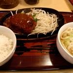 Bushuuudonakaneandomidoridainingu - うどん屋さんのハンバーグセット 820円
