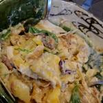 福島壱麺 - 自ら混ぜるポテサラ~鯖和え