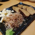 日本酒個室バル 蔵ノ助 - いぶりがっこチーズ
