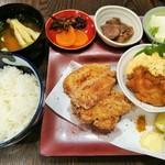 110298172 - チキン南蛮&鶏のからあげ ハーフ&ハーフ(ご飯少なめ)800円