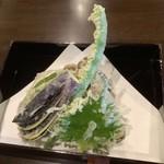 石臼びき手打そば 悠庵 - 旬の野菜の天ぷら