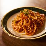 洋食オリホン Yoshoku BAR & Restaurant - 海老の入った特製ナポリタン。