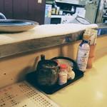 とんかつ 栄 - ソースはクドくなく肉の旨味をダイレクトに味わえる。