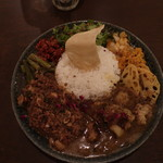 curry bar nidomi - 夜のおまかせnidomiカレー「混盛」