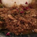 curry bar nidomi - 豚ミンチとカシューナッツのスパイスキーマ