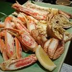 望楼ノグチ函館 - 料理写真:三大カニづくし、身が取りづらい。カニ味噌ほとんど無い。