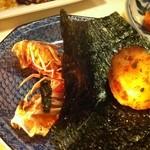 鮨 魚樹 - 海老(頭)とほたて