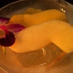 鮨 魚樹 - デザート(洋なし、メロン)
