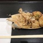 大阪たこ焼き はかたこ  - 料理写真:たこ焼き 塩=480円 ← 大玉6個