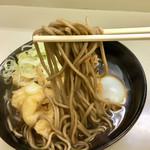長寿庵 - 天ぷらそば300円+ゆで卵40円