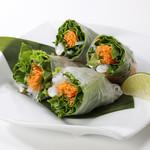 野菜たっぷり香草と海老の生春巻き