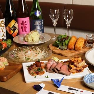 オリゼの飲み放題付コースは日本酒も飲み放題!!5,000円~