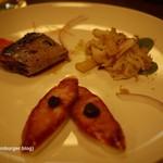 ビーフン東 - 前菜(さんま、いか、クラゲ)