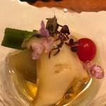 鉄板台所 かちゃぐり屋の とっとき - 加茂茄子とアワビの和え物