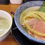 110326450 - 【(限定) ちょっと濃い口煮干しつけ麺 + 半熟味付煮玉子】¥880 + ¥100