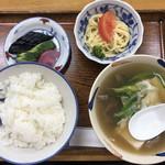 一富士食堂 - 料理写真:肉吸定食(700円)