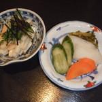 Kawayodo - 小鉢&漬け物