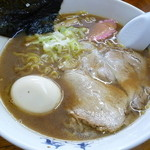 本気 - 正油ラーメン+味玉トッピング 2012.1.3