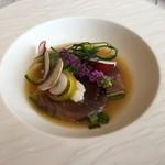 110342025 - 初鰹とタコのマリナード 季節野菜のサラダ仕立て
